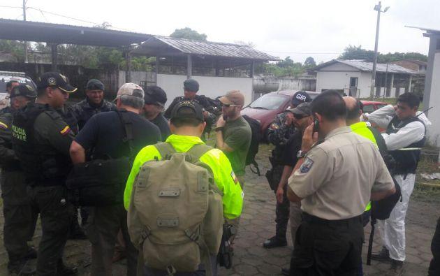 Expertos de Colombia y de Estados Unidos colaboran en las investigaciones. Foto: Policía Nacional