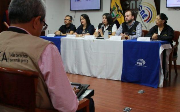 A estos observadores se sumarán 39 embajadores y cónsules de los países acreditados en Ecuador.  Foto: CNE