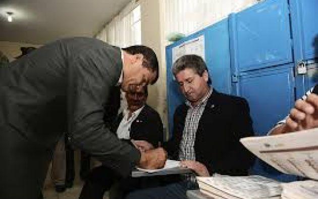 """""""Se ha presentado (en la junta electoral) a horas de la mañana porque es lo que le corresponde"""", indicó una allegada al exmandatario. Foto: archivo"""