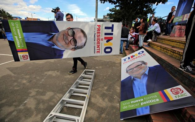 """El candidato presidencial y líder máximo de las FARC, Rodrigo Londoño, conocido como """"Timochenko"""" ha sufrido agresiones. Foto: Reuters"""