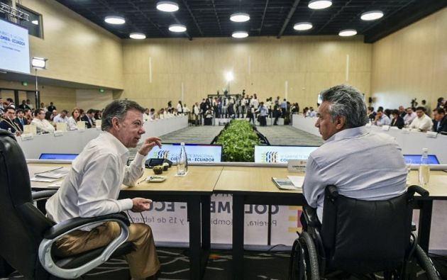 """""""Reitero nuestro ofrecimiento para seguir acogiendo los diálogos hasta que la paz total sea una feliz realidad"""", dijo Moreno. Foto: AFP"""