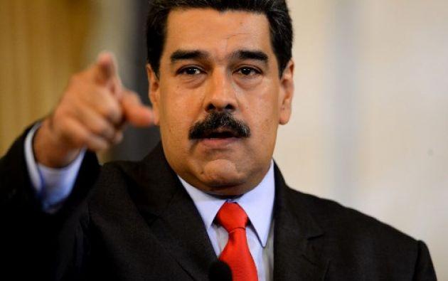 """""""En Venezuela mandamos los venezolanos, no el Grupo de Lima"""", declaró el mandatario. Foto: AFP"""
