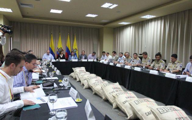 Los ministros de Defensa de ambos países participarán este jueves en el Sexto Gabinete Binacional Colombia-Ecuador. Foto: Presidencia