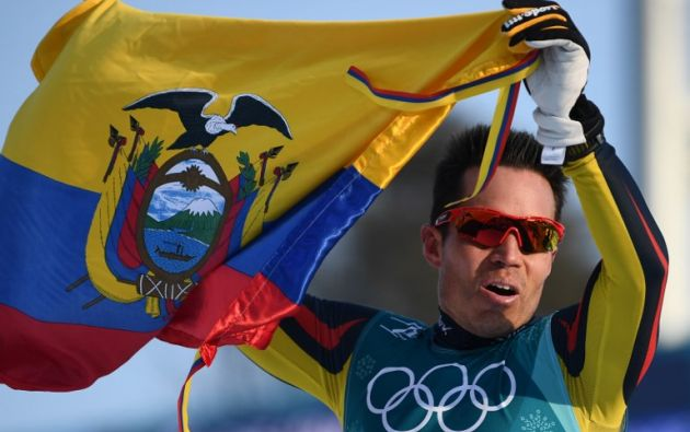 """""""Es un orgullo muy grande representar por primera vez a mi país en los Juegos Olímpicos de Invierno"""", reconoció Jungbluth. Foto: AFP"""