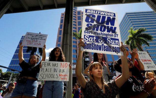 """Se espera que la manifestación de Washington, bautizada """"Marcha por nuestras vidas"""". Foto: Reuters"""