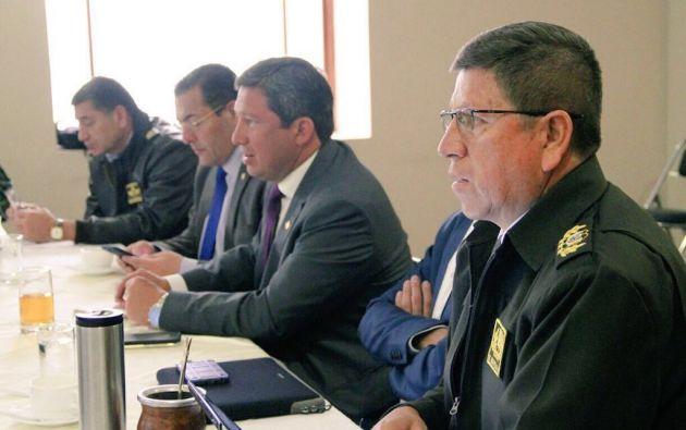 Mando Unificado para intervención coordinada en Frontera Norte. Foto: Ministerio Interior