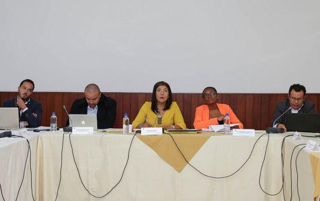 Silvia Salgado, vicepresidenta de la Comisión, anunció que se conformará un equipo técnico que preparará una matriz de todos los proyectos. Foto: Asamblea
