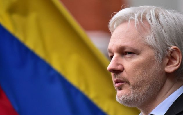 Asilado en la Embajada en Londres desde 2012, el fundador de Wikileaks fue nacionalizado ecuatoriano recientemente. Foto: archivo