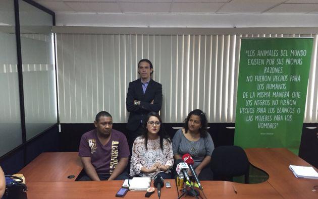 Durante una rueda de prensa en la fundación 'Rescate Animal', este 26 de febrero, informaron sobre las medidas legales. Foto: @RescateAnimal