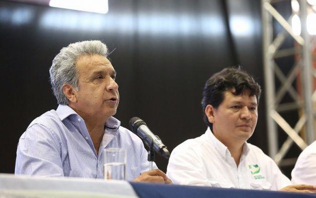 Según Moreno, en Ecuador, al menos cien ríos están severamente contaminados. Foto: Presidencia