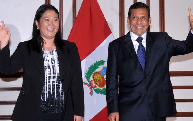 Keiko y Humala niegan haber recibido dádivas de Odebrecht. Foto: AFP