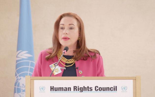 El pasado 21 de mayo Ecuador presentó la candidatura de la ministra de Relaciones Exteriores y Movilidad Humana. Foto: Cancillería