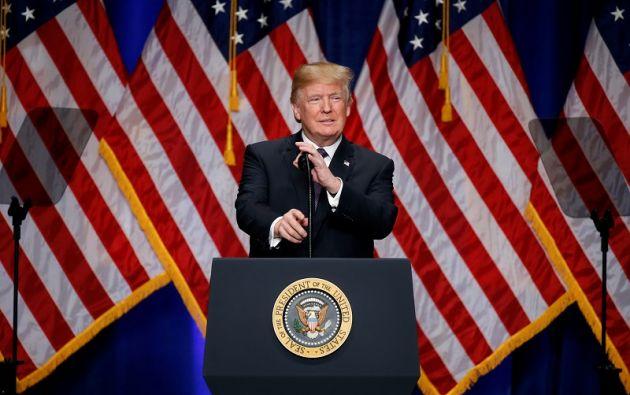 """""""Hoy defiendo la seguridad nacional de Estados Unidos al aplicar aranceles al acero y el aluminio"""", dijo Trump. Foto: Reuters"""