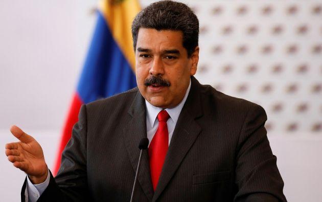 """""""Me da risa. Parece un programa cómico. Eso es Colombia, ¡cara e' tabla (cara dura), Santos! ¡Tú sí eres cara e' tabla!"""", dijo Maduro. Foto: Reuters"""