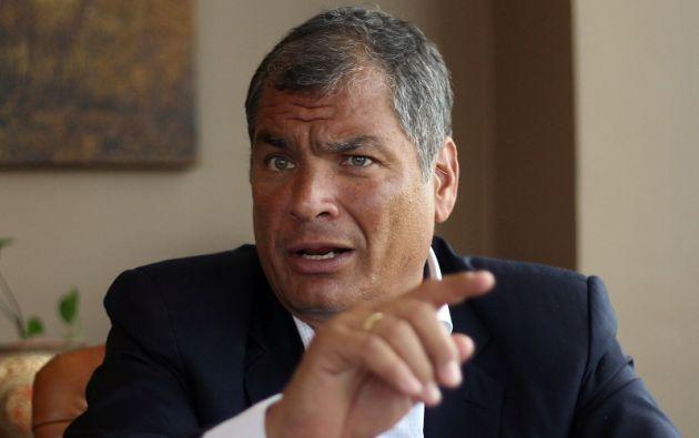 """""""El próximo show será la deuda, una verdadera aberración, pero todo es posible en el mundo cuántico"""", dijo Correa. Foto: archivo"""