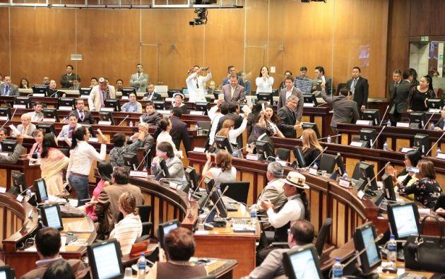 """Cuestionan que """"una bancada con una representación política electoral del 39% tenga una representación en las dignidades del 85%. Foto: Asamblea"""