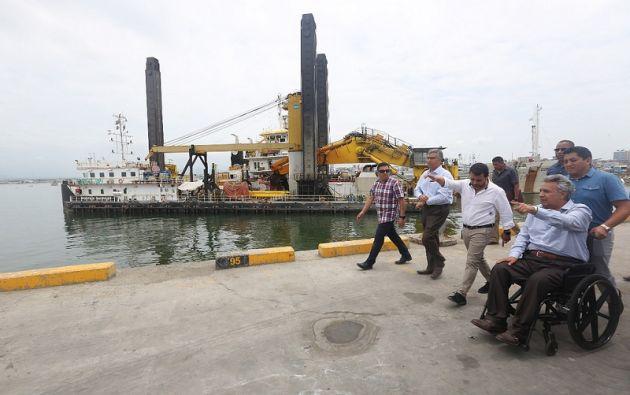 El jefe de Estado, además señaló que esta obra era indispensable para la continuidad de la operación del Terminal Internacional. Foto: Presidencia