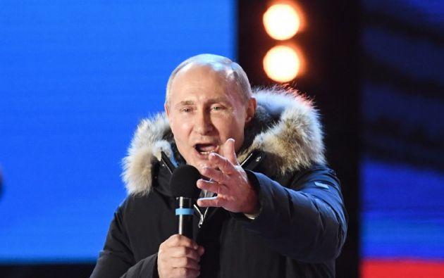 """""""Rusia está condenada al éxito. Debemos mantener la unidad"""", dijo el mandatario. Foto: AFP"""
