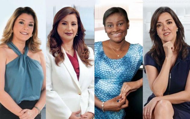 Silvia Buendía, Patricia Morejón, Diana Salazar y Caterina Acosta, ecuatorianas que se destacan en diferentes ámbitos.