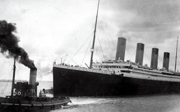 El Titanic partiendo del puerto de Southampton el 10 de abril de 1912. Foto: AFP
