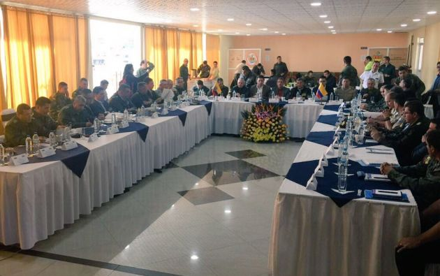 Ecuador y Colombia inician reunión para analizar ataques en frontera. Twitter - Ministerio del Interior