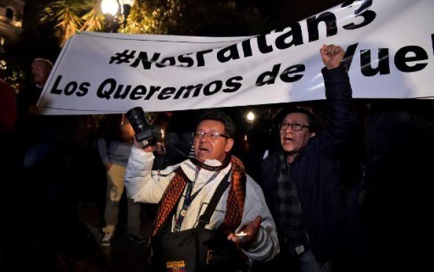 No existiría información que indique que los secuestrados hayan sido trasladados a Colombia. Foto: AFP