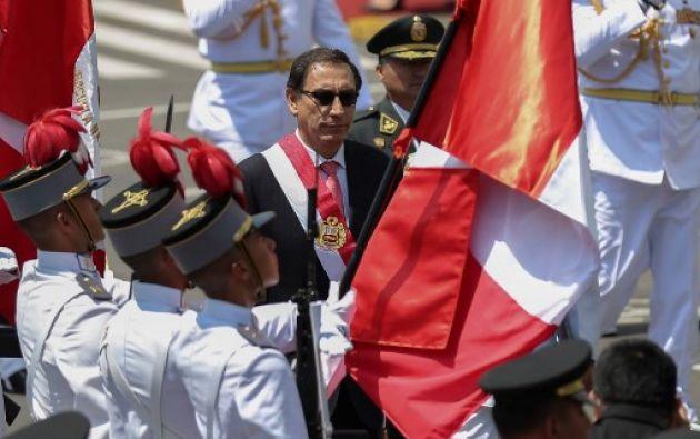 """""""Los problemas del Perú son grandes y estoy dispuesto a asumirlos con el apoyo de todos"""", añadió Vizcarra. Foto: Reuters"""