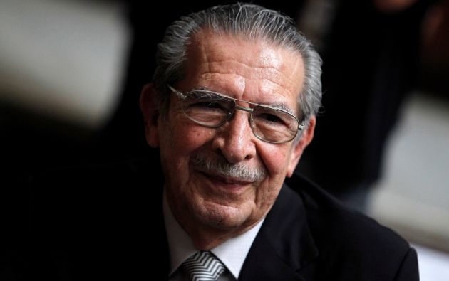 Ríos Montt, quien gobernó de facto entre 1982 y 1983 tras un golpe de Estado, era juzgado por el asesinato de 1.171 indígenas ixiles. Foto: Reuters