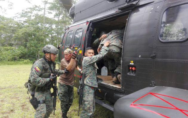 El suceso, en el que fallecieron otros tres soldados, ocurrió en el cantón de Mataje. Foto: archivo