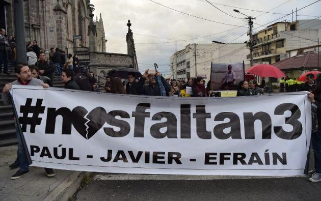 """""""La intención es hacer un plantón donde nos lo permitan, porque sabemos que la seguridad es muy alta"""", subrayó el hijo de Efraín Segarra. Foto: AFP"""