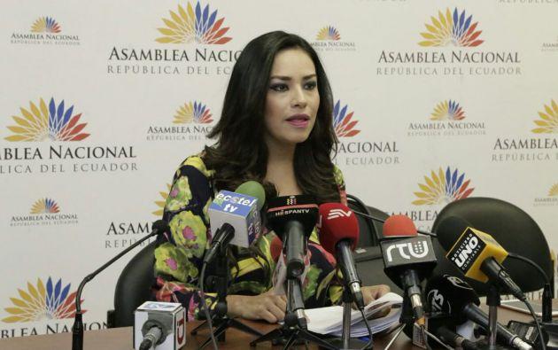 """""""Es complicado que un periodista desarrolle su trabajo cuando compromete su vida"""", dijo Cruz. Foto: @TvlEcuador"""
