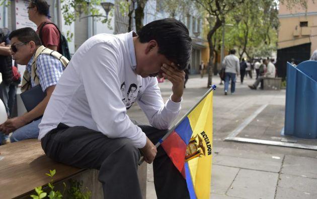 Moreno decretó los días 13, 14, 15 y 16 de abril como Duelo Nacional. Foto: AFP