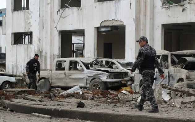La zona de la divisoria ha sido escenario desde enero de atentados con explosivos contra objetivos de seguridad, el primero contra el principal cuartel de la Policía en San Lorenzo. Foto: Reuters