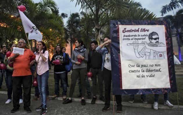 Santrich fue capturado la semana pasada por la policía colombiana. Foto: AFP