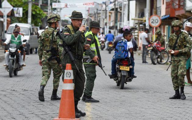 Luis Carlos Villegas confirmó que en el país se encuentran 17 instructores de la fuerza colombiana. Foto: AFP