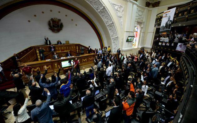 Maduro ya enfrentó el año pasado un proceso de antejuicio en el Parlamento, también simbólico. Foto: archivo AFP
