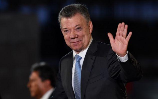 """""""Estamos en este momento decidiendo cuál es el paso a seguir, si Ecuador quiere que salgamos de inmediato o si quiere que termine este ciclo"""", dijo Santos. Foto: AFP"""