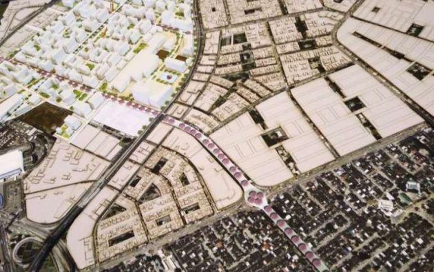 Se planea dividir el predio en tres distritos: el marino, central y jardín. Foto: Redes