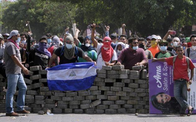 Ola de protestas deja más de 20 muertos en Nicaragua. Foto: AFP