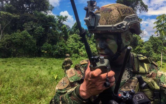 El militar que murió fue el subteniente Juan David Campo Guacheta, nacido en el vecino departamento del Cauca. Foto: AFP