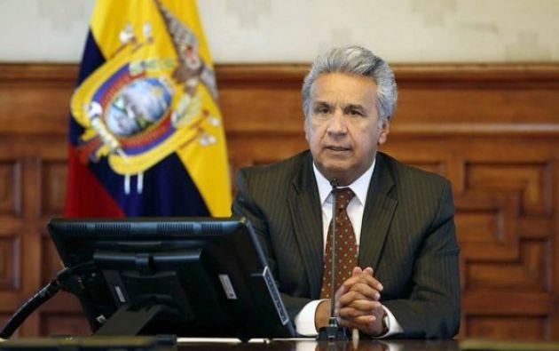 """""""Si los delegados al diálogo decidieron dejar Ecuador, entiendo que no quisieron comprometerse a ello"""", comentó Moreno."""