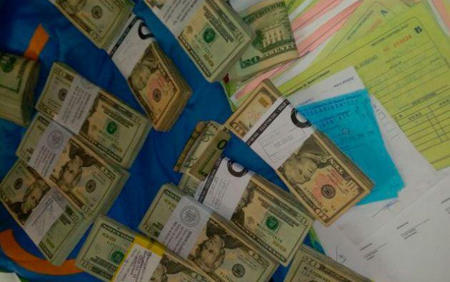 """Durante el operativo """"Ares"""" se logró incautar dinero en efectivo. Foto: Fiscalía"""
