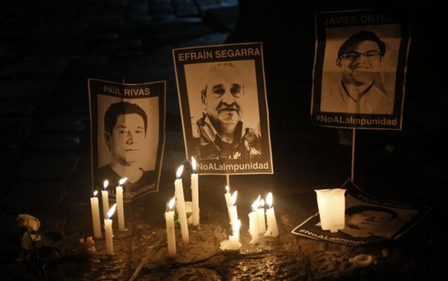 El equipo llegó el 25 de marzo a Esmeraldas y fue secuestrado un día después por grupos disidentes de las FARC. Foto: AFP