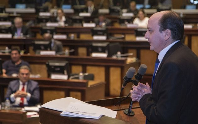 La revelación derivó en la destitución de Serrano en marzo y en el inicio del proceso de juicio político contra el fiscal. Foto: Asamblea