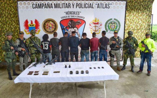"""Los ahora detenidos """"se dedicaban al secuestro y extorsiones contra el gremio pesquero en frontera con el Ecuador"""". Foto: Twitter @ftc_hercules"""
