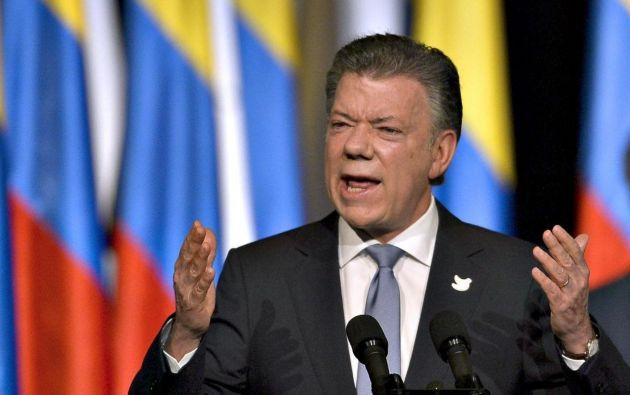 El presidente de Colombia, Juan Manuel Santos, aceptó hoy tras una reunión con el Gabinete para el Posconflicto que el proceso de paz con las FARC ha tenido retrasos. Foto: Archivo-AFP