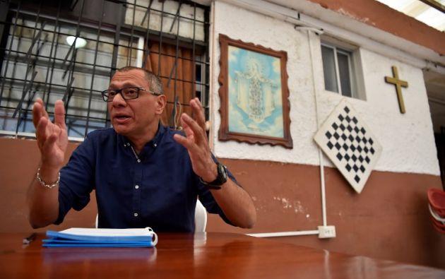 """En una comparecencia de prensa su abogado Alejandro Vanegas Cortázar, reveló que Glas """"ha presentado una acción constitucional en contra del Gobierno central"""". Foto: archivo"""