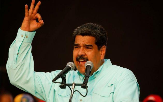 """""""Hay que estar alerta porque la oferta"""" de los candidatos de """"la derecha opositora"""" venezolana """"es entregar la patria a los gringos, dijo Maduro. Foto: Reuters"""