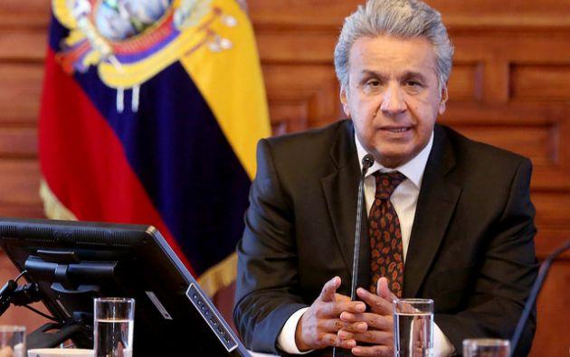 Moreno volvió a comprometerse con enmendar la ley Orgánica de Comunicación. Foto: presidencia