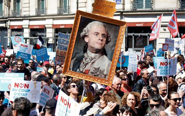 """Los manifestantes acusaban a Macron de ser el """"presidente de los ricos"""". Foto: Reuters"""